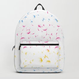 Dandelion Seeds Pansexual Pride (white background) Backpack