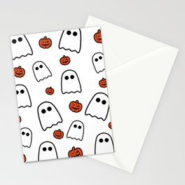Halloween Ghosts And Pumpkins Stationery Cards