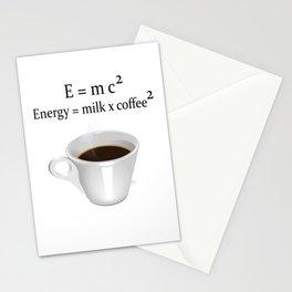 Coffee E=mc2 Stationery Cards