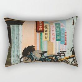Bicycle Shadows Rectangular Pillow
