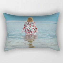 Woman in the Water Rectangular Pillow