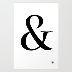 Turquoise's Ampersand Art Print