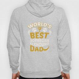 World's Best Norwegian Elkhound Dad Hoody