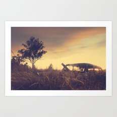 Sunsets and Forgotten Cars Art Print