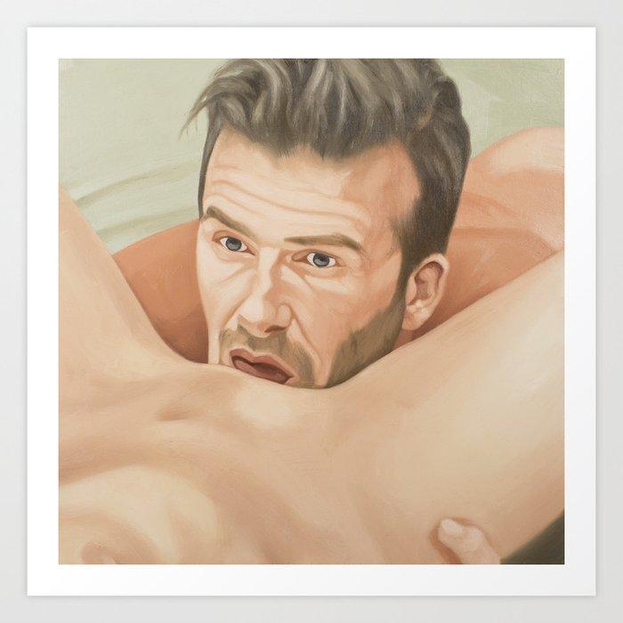 Eat It Like Beckham Art Print