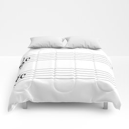 Blank Music Stave Comforters