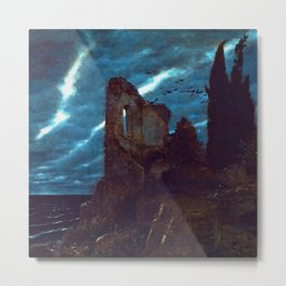 Twilight of the Abandoned Isles landscape painting by Arnold Bocklin Metal Print