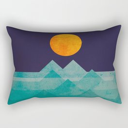 The ocean, the sea, the wave - night scene Rectangular Pillow