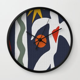 Inspired to Matisse Wall Clock