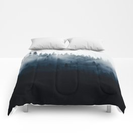 Foggy Mountain Forest (Color) Comforters