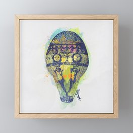 AP103 Hot air baloon Framed Mini Art Print