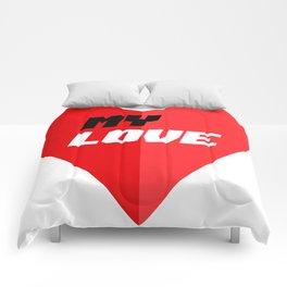 My Love - Romantic Heart Valentine Gift Comforters