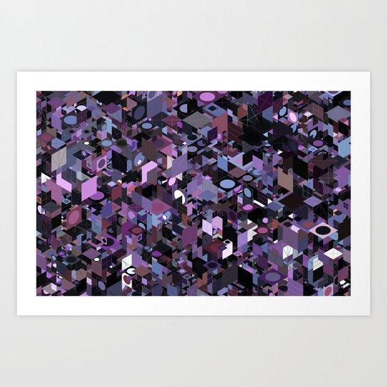 Panelscape: colours from Eye of the Beholder  Art Print