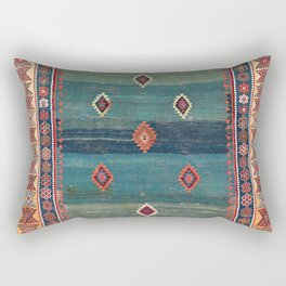 Sivas Antique Turkish Niche Kilim Print Rectangular Pillow