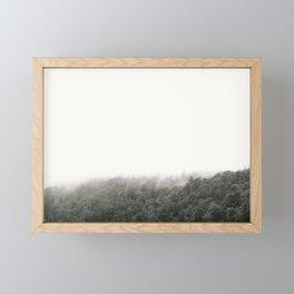Foggy Wisconsin Pines at Devil's Lake Framed Mini Art Print