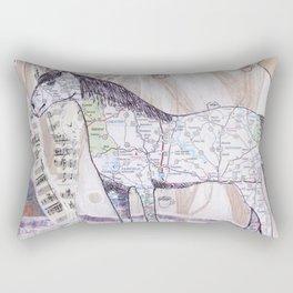 Snowy Evening Woods Rectangular Pillow
