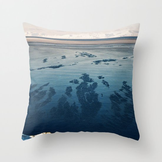 Ilulissat Greenland: The land of dog sleds and Midnight Sun Throw Pillow