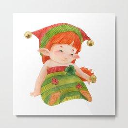 Elf's Factory Stories. Elf Girl Like a Little Princess Metal Print