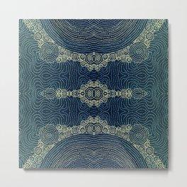 Indigo Batik Metal Print