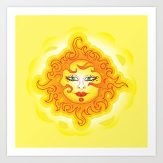 Abstract Sun G218 Art Print