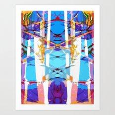 Colored Window Art Print