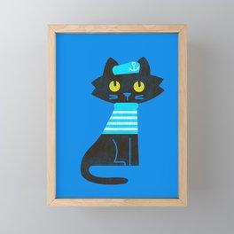 Fitz - Sailor cat Framed Mini Art Print