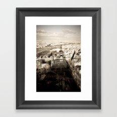 Shadow Over Paris Framed Art Print