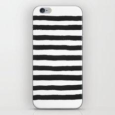 Black paint stripes iPhone & iPod Skin