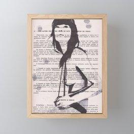 Bretelle on the rocks Framed Mini Art Print