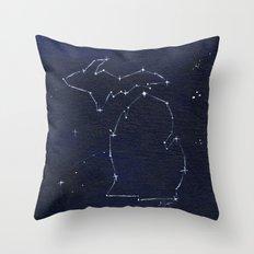 Mitten State Constellation Throw Pillow