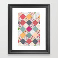 paper cut flower diamonds Framed Art Print