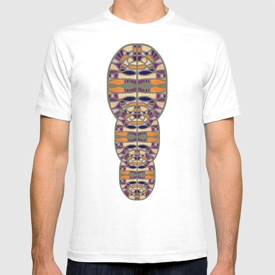 Gaudy Gaudi orange & purple T-shirt