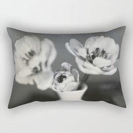 Tulip Bloom Tintype Rectangular Pillow