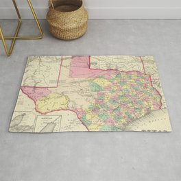 Vintage Map of Texas (1856) Rug