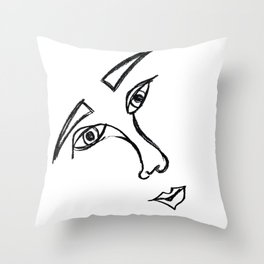 Face 3.0 Throw Pillow