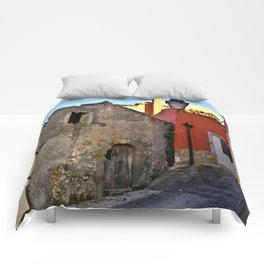 Medieval village of Sicily Comforters