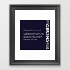Halucinated Defined Remix Framed Art Print