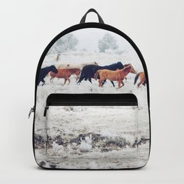 Winter Horse Herd Backpack