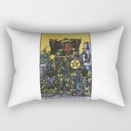 King of Pentacles - A Tarot Print Rectangular Pillow