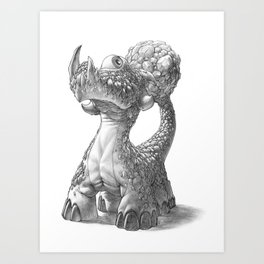 The Rocktail Cyclodile Art Print