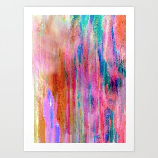 Sherbet Shower Art Print