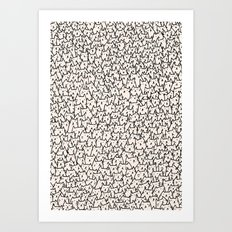A Lot of Cats Art Print