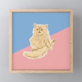 Persian Cat Meow Framed Mini Art Print