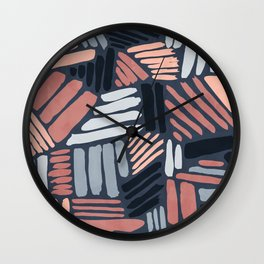 Dots and Lines - Strokes 1 Wall Clock