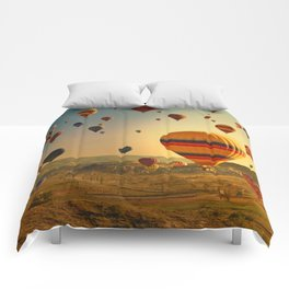 Hot Air Balloons at Sunrise in Cappadocia Comforters