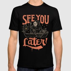 See You Mens Fitted Tee MEDIUM Black