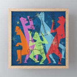 Mid-Century Modern Jazz Band Framed Mini Art Print