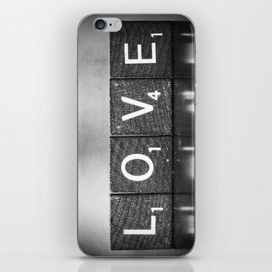 Love is a Beautiful Word - a fine art photograph iPhone & iPod Skin