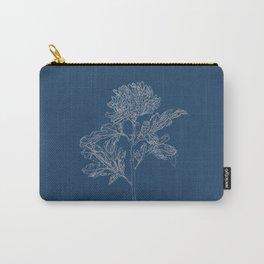 Chrysanthemum Blueprint Carry-All Pouch