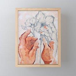 À fleur de peau Framed Mini Art Print